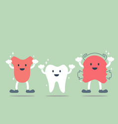 tooth tongue and teeth retainer vector image