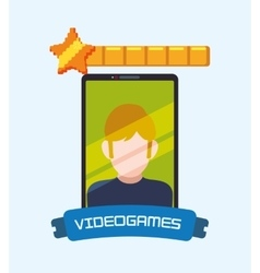 Video online games smartphone boy favorite vector