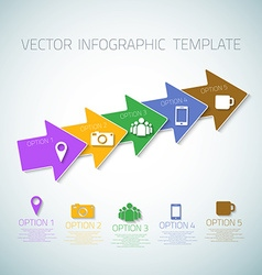 Web infographic arrows template layout with icons vector