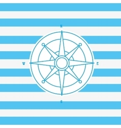 Compass nautical emblem image vector