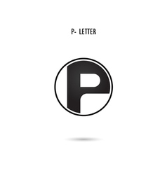 P-letter abstract logo vector image