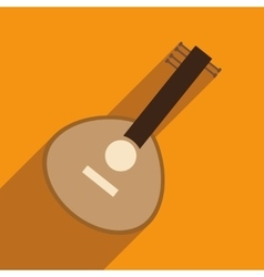 Modern flat icon with long shadow indian musical vector