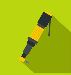Pneumatic screwdriver icon flat style vector