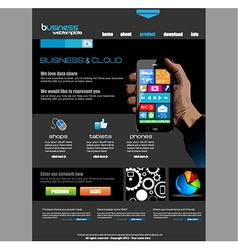 Website template for corporate business vector