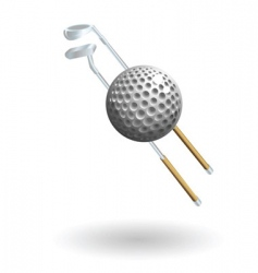 golf illustration vector image