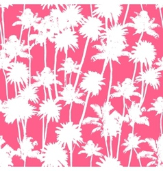 Palm trees seamless pattern vector