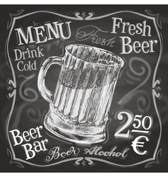 Beer mug logo design template alcoholic vector