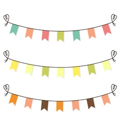 Cute flags clipart for baby shower set vector