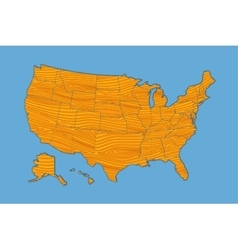 Map of the usa vector