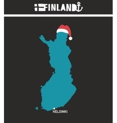 Creative geographic map of finland - scandinavian vector