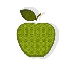 Patterned green apple vector image