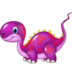 Cute baby dinosaur posing isolated vector image