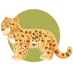 Cartoon smiling jaguar vector