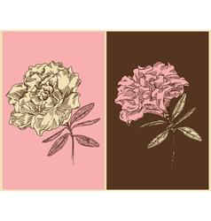 Azaleas - Vintage floral design vector image
