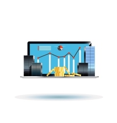 Business centers on the laptop vector