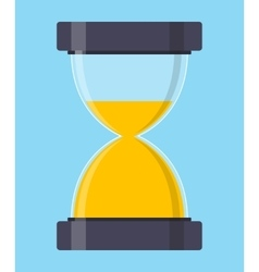 Hourglass sandglass icon in flat style vector