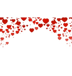 Hearts romantic background for you design vector