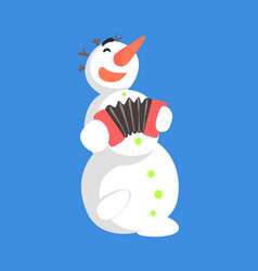 Alive classic three snowball snowman playing vector