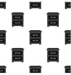 Bedside table icon in black style isolated on vector