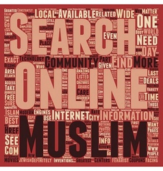 Best deals with the muslim online community text vector