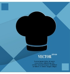 Chef cap Cooking Flat modern web button on a flat vector image vector image