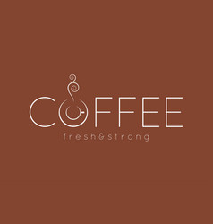 coffee logo menu design background vector image vector image