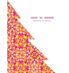 Colorful triangle texture christmas tree vector