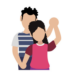 Faceless couple together vector
