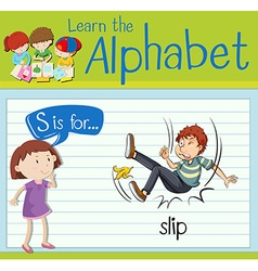 Flashcard letter s is for slip vector