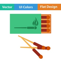 Flat design icon of match box vector image vector image