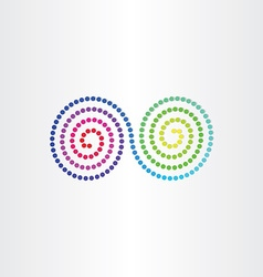 Infinity color spectrum spyral symbol vector