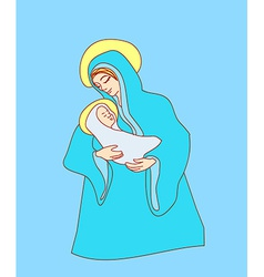 Madonna and child jesus vector