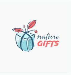 natural gift isolated emblem vector image