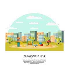 Playground kids concept vector