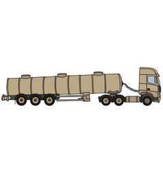 Sand tank semitrailer vector image vector image