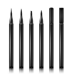 Set cosmetic makeup eyeliner pencil vector