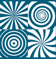 Set of twirls psychedelic circles and vector