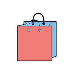 shopping bag design to save the products vector image