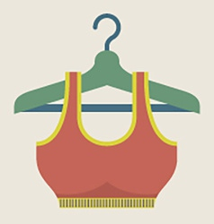 Single Women Sport Bra On Hanger vector image vector image