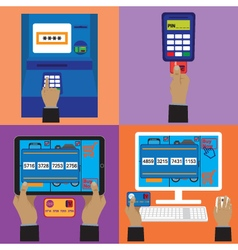 Various payment methods vector image