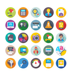web design and development icons 11 vector image vector image