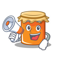 with megaphone jam character cartoon style vector image vector image