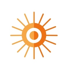 Sun star climate isolated icon vector