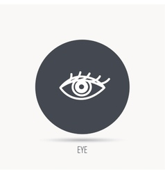 Eye icon human vision sign vector
