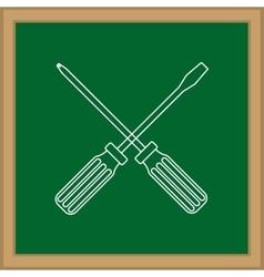 Construction screwdriver tool vector image