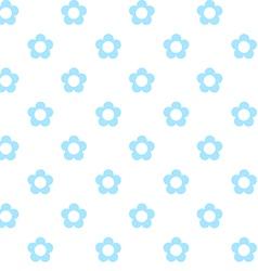 light blue flowers seamless pattern fabric texture vector image