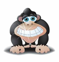 Smiling ape vector