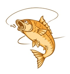 Catch a fish vector