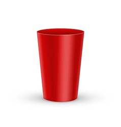 Red plastic glass vector