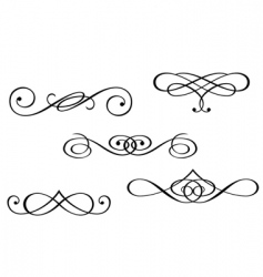 Monograms and swirl elements vector